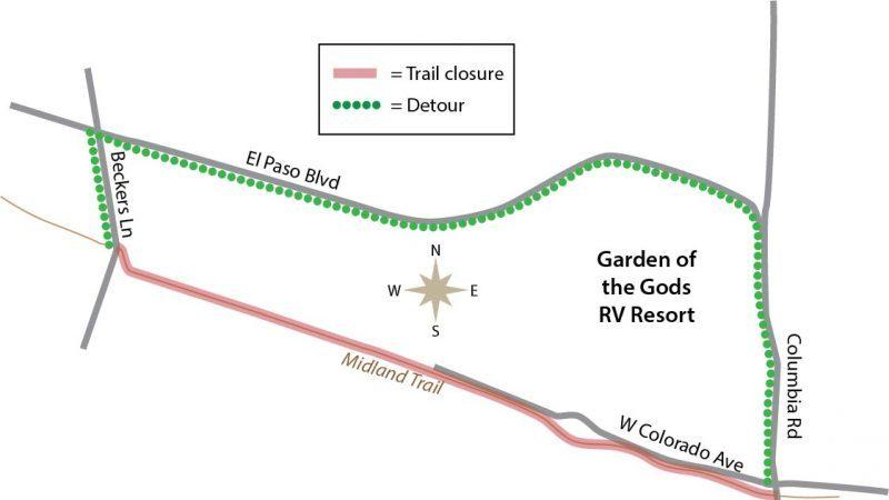 West Colorado Springs/Manitou Springs – Midland Trail Closure