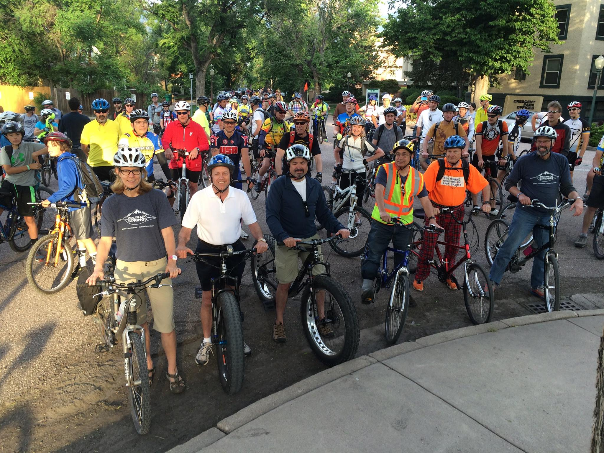 Last Year's Mayor's Bike Ride Which Included Several Council Members Including Jill Gaebler And Tom Strand.