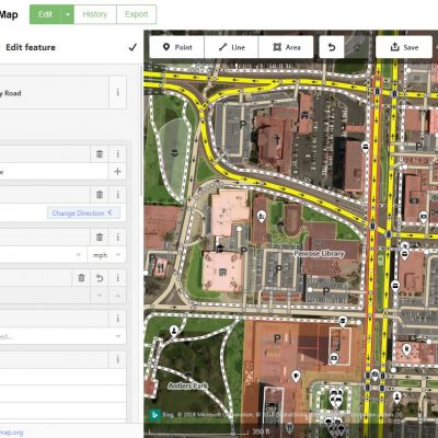 OpenStreetMap Edit Screen