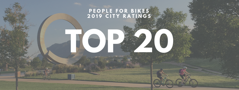 People For Bikes 2019 City Ratings