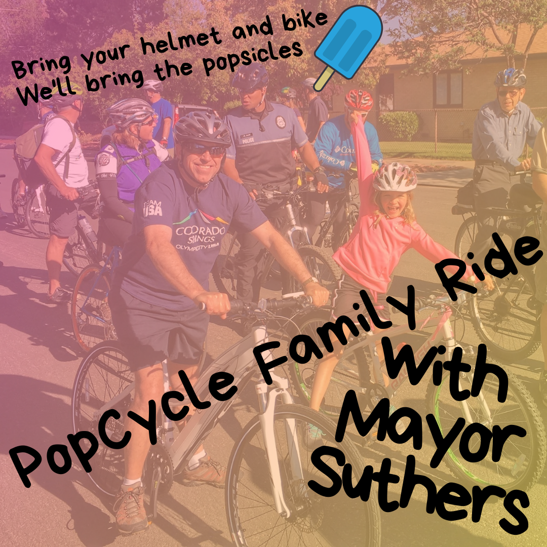 Popcycle Family Ride With Mayor Suthers