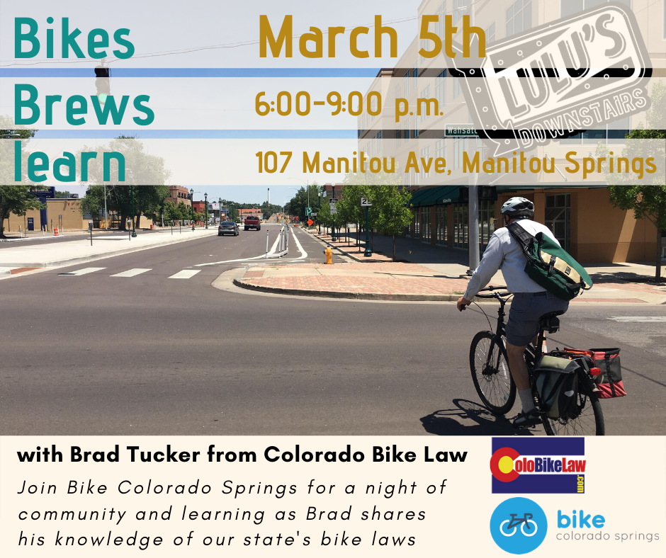 Bikes Brews Learn March 5th