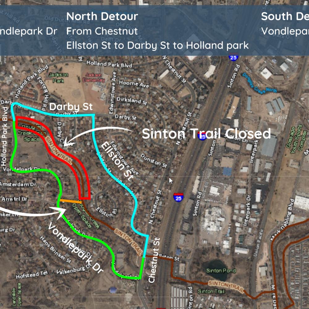 Sinton Trail Detour 2021